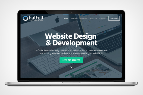 Halfull Design Solutions Website