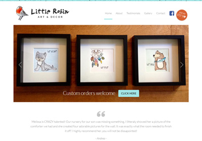 Little Robin Art & Decor Website